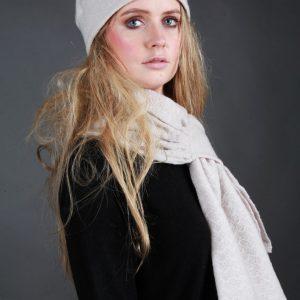 Beret Style Ladder Hat HAT22 Linda Wilson Irish Knitwear Designer