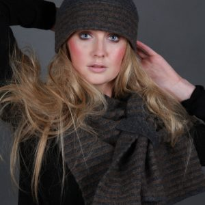 Beret Style Raised Row Hat HAT21-1 Linda Wilson Irish Knitwear Designer