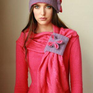 Cable Hat HAT7-1 Linda Wilson Irish Knitwear Designer