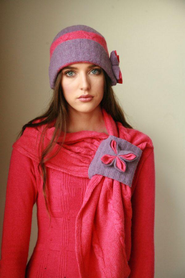 Cable Hat HAT7-2 Linda Wilson Irish Knitwear Designer