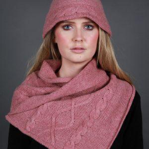 Cloche Style Cable Hat HAT20-2 Linda Wilson Irish Knitwear Designer