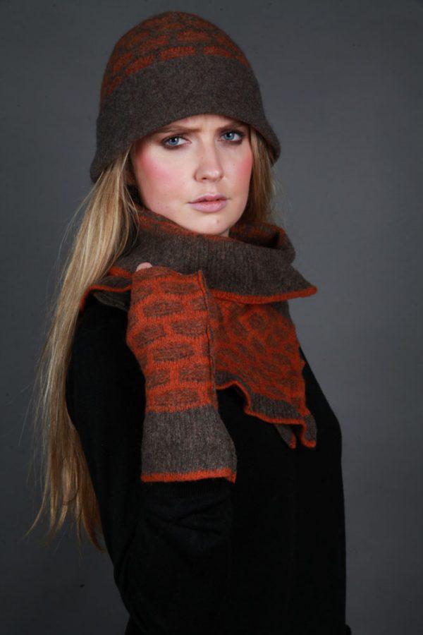 Cloche Textured Hat HAT17-2 Linda Wilson Irish Knitwear Designer