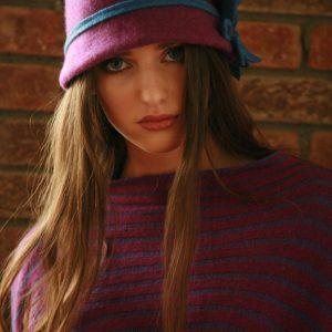 Daisy Cloche Hat HAT5-1 Linda Wilson Irish Knitwear Designer