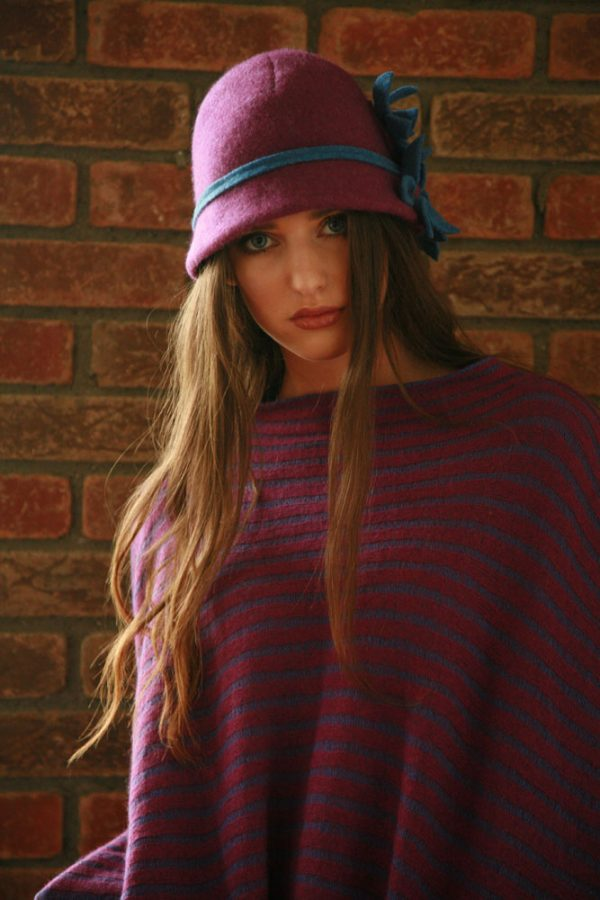 Daisy Cloche Hat HAT5-2 Linda Wilson Irish Knitwear Designer