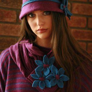 Daisy Cloche Hat HAT5-3 Linda Wilson Irish Knitwear Designer