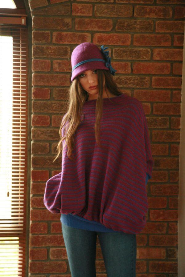 Daisy Cloche Hat HAT5-4 Linda Wilson Irish Knitwear Designer
