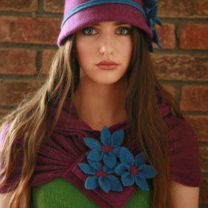 Daisy Scarf SCF3-2 Linda Wilson Irish Knitwear Designer
