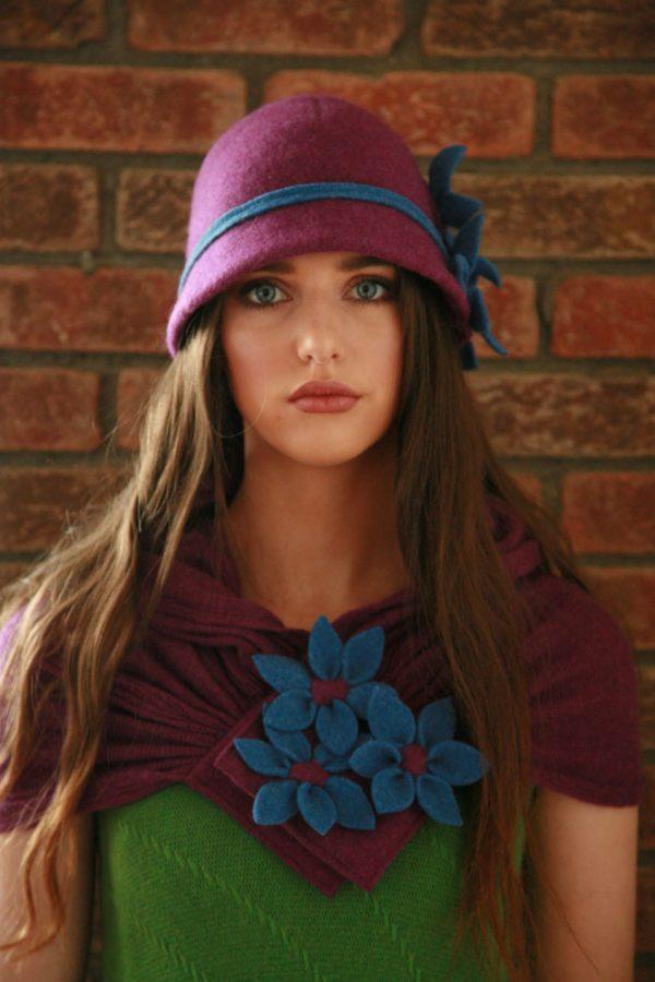 Daisy Scarf SCF3-3 Linda Wilson Irish Knitwear Designer