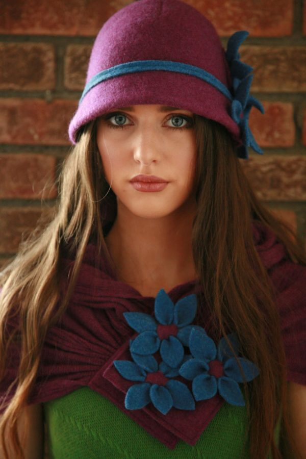 Daisy Scarf SCF3-4 Linda Wilson Irish Knitwear Designer