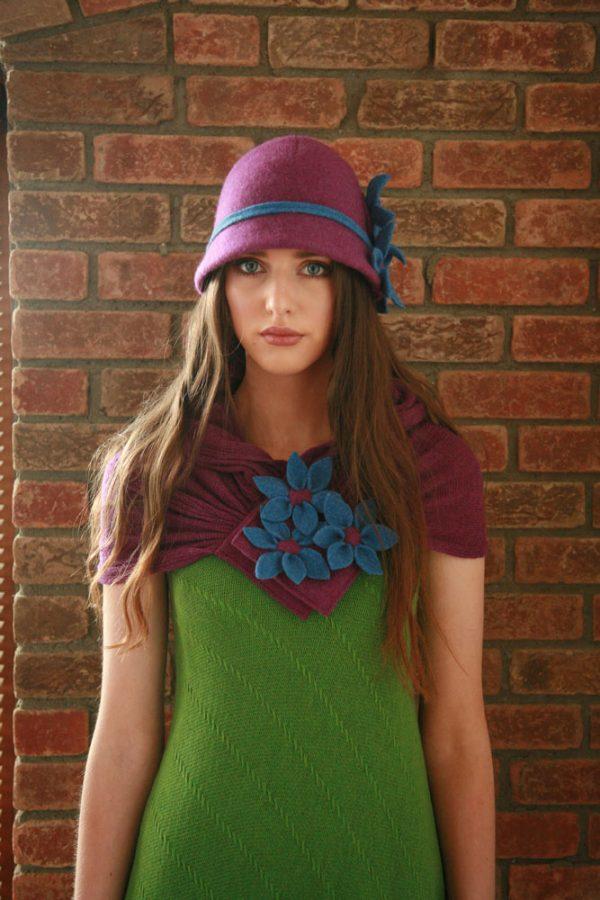 Daisy Scarf SCFs3 Linda Wilson Irish Knitwear Designer