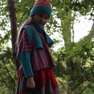 Dandelion Scarf SFC14-2 Linda Wilson Knitwear Irish Childrens Knitwear Designer Limerick