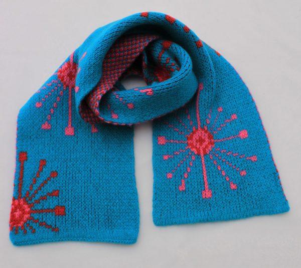 Dandelion Scarf SFC14-4 Linda Wilson Knitwear Irish Childrens Knitwear Designer Limerick