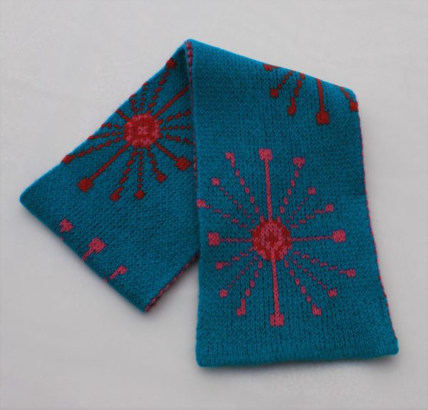 Dandelion Scarf SFC14-5 Linda Wilson Knitwear Irish Childrens Knitwear Designer Limerick