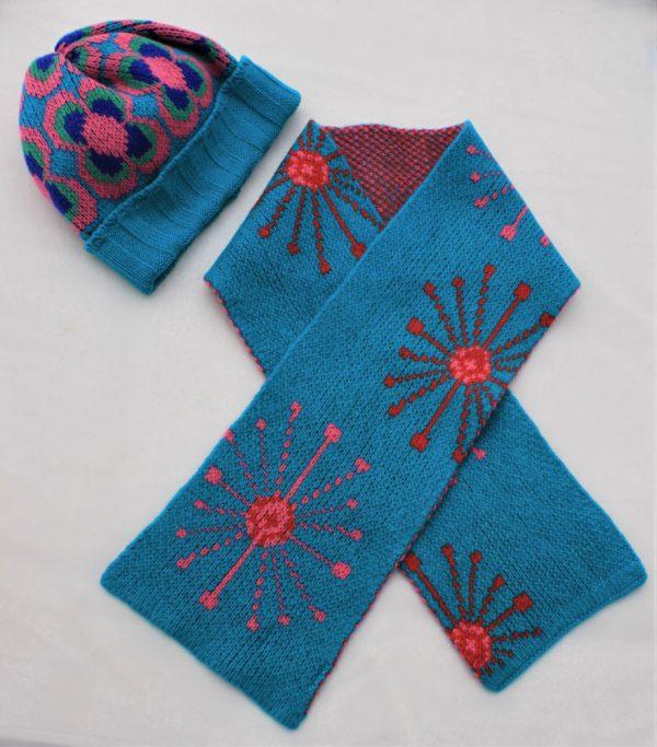 Dandelion Scarf SFC14-6 Linda Wilson Knitwear Irish Childrens Knitwear Designer Limerick