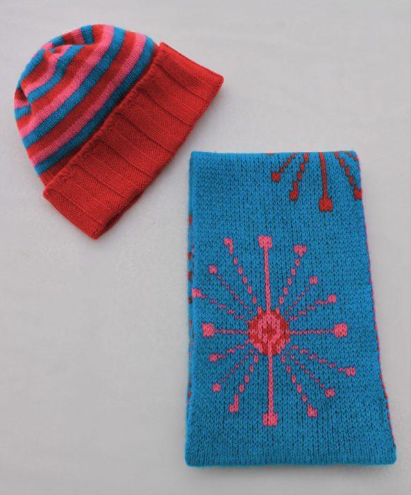 Dandelion Scarf SFC14-7 Linda Wilson Knitwear Irish Childrens Knitwear Designer Limerick
