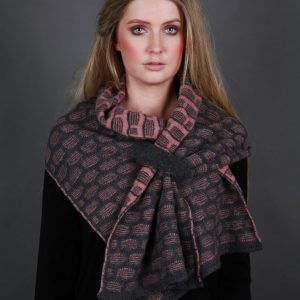 Draped Pull Through Scarf SCF13 Linda Wilson Irish Knitwear Designer