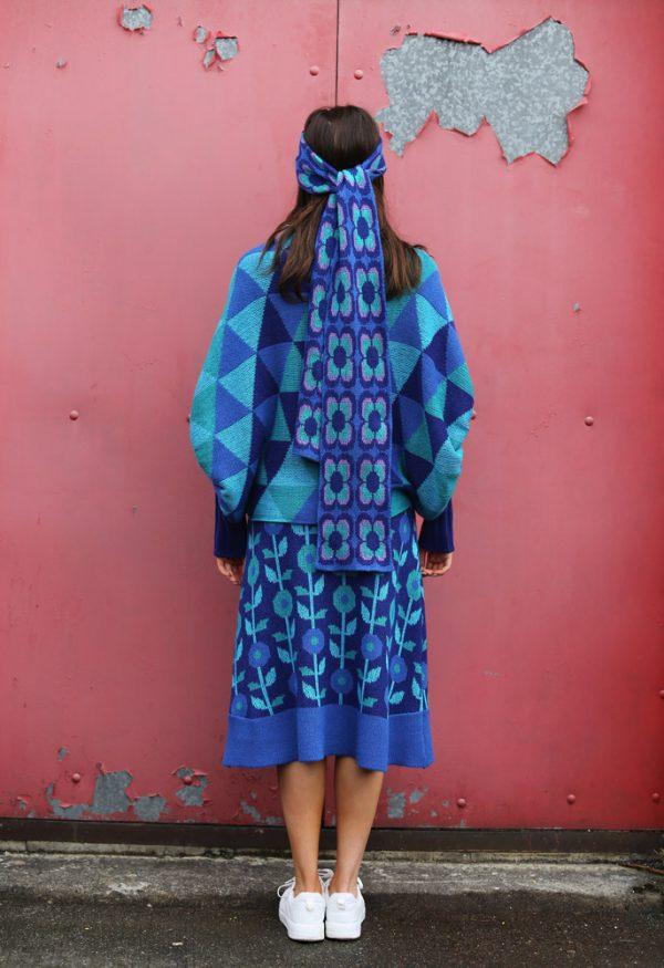 Floral A-Line Skirt 3 Linda Wilson Irish Knitwear Designer Limerick