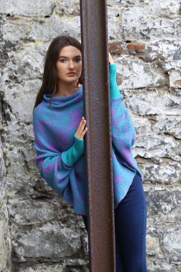 Floral Draped Jumper 3 Linda Wilson Irish Knitwear Designer Limerick