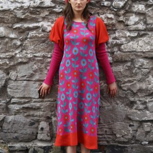 Floral Dress 1 Linda Wilson Irish Knitwear Designer Limerick
