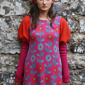 Floral Dress 2 Linda Wilson Irish Knitwear Designer Limerick