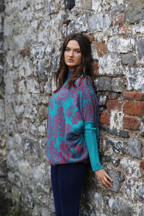 Floral Jumper 1 Linda Wilson Irish Knitwear Designer Limerick