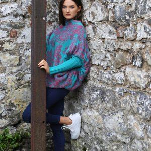 Floral Jumper 2 Linda Wilson Irish Knitwear Designer Limerick