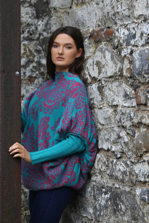 Floral Jumper 3 Linda Wilson Irish Knitwear Designer Limerick