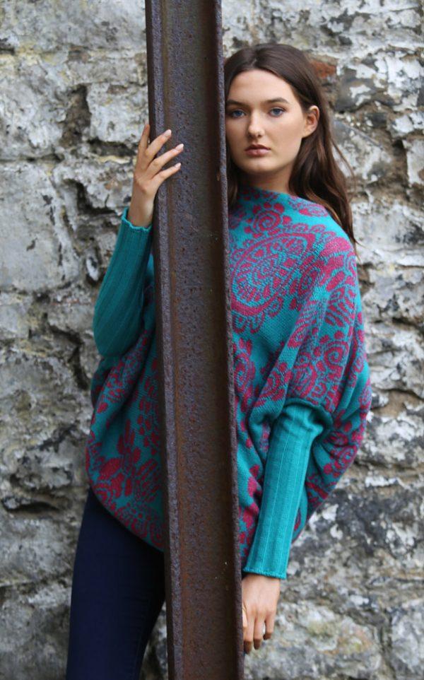 Floral Jumper 4 Linda Wilson Irish Knitwear Designer Limerick