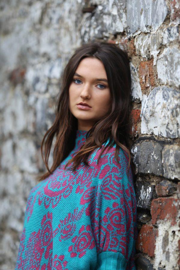 Floral Jumper 5 Linda Wilson Irish Knitwear Designer Limerick