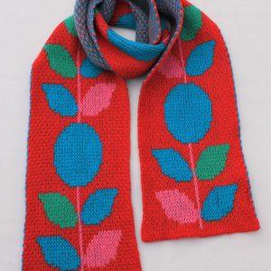 Floral Scarf SCF11-1 Linda Wilson Childrens Knitwear Irish Designer Limerick
