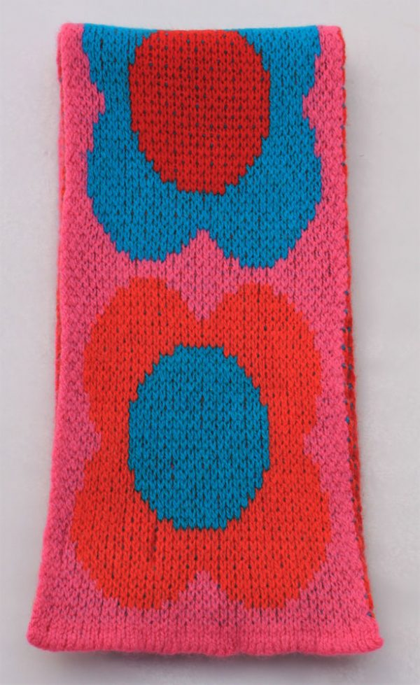 Flower Scarf SCF8-10 Linda Wilson Childrens Knitwear Irish Designer Limerick
