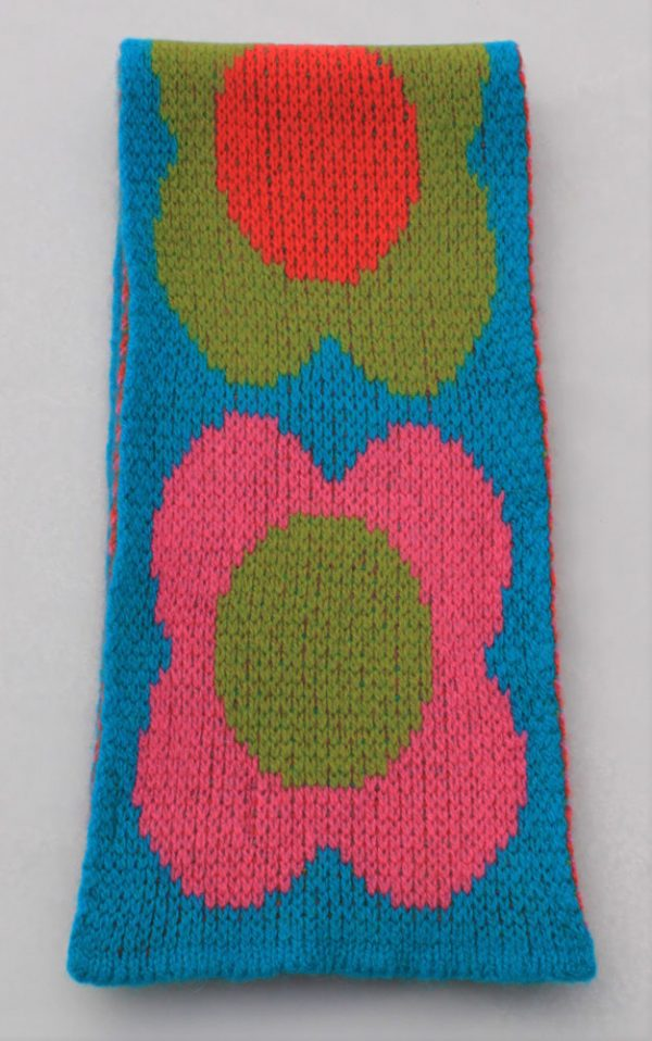 Flower Scarf SCF8-4 Linda Wilson Childrens Knitwear Irish Designer Limerick