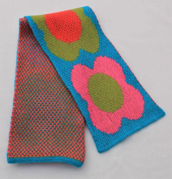 Flower Scarf SCF8-5 Linda Wilson Childrens Knitwear Irish Designer Limerick