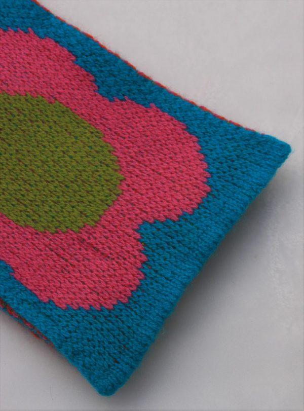 Flower Scarf SCF8-6 Linda Wilson Childrens Knitwear Irish Designer Limerick