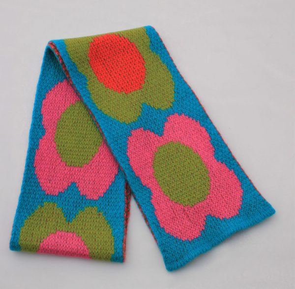 Flower Scarf SCF8-7 Linda Wilson Childrens Knitwear Irish Designer Limerick