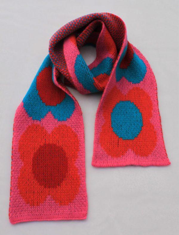 Flower Scarf SCF8-8 Linda Wilson Childrens Knitwear Irish Designer Limerick
