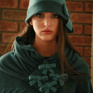 Four Bow Scarf SCF11 Linda Wilson Knitwear Irish Designer Limerick