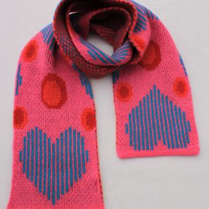 Heart Dot Scarf SCF13-1 Linda Wilson Childrens Knitwear Irish Designer Limerick