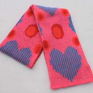Heart Dot Scarf SCF13-2 Linda Wilson Childrens Knitwear Irish Designer Limerick