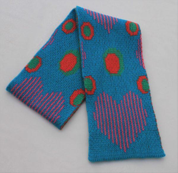 Heart Dot Scarf SCF13-3 Linda Wilson Childrens Knitwear Irish Designer Limerick