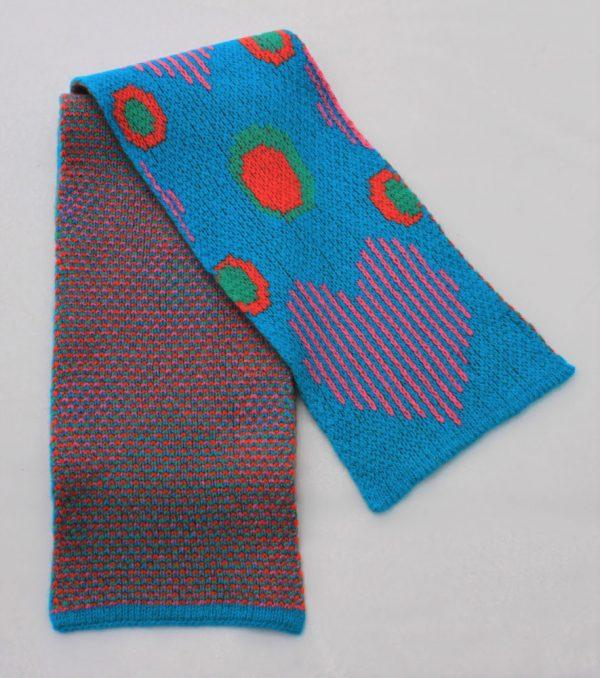 Heart Dot Scarf SCF13-4 Linda Wilson Childrens Knitwear Irish Designer Limerick