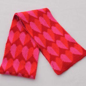 Heart Scarf SCF9-2 Linda Wilson Childrens Knitwear Irish Designer Limerick