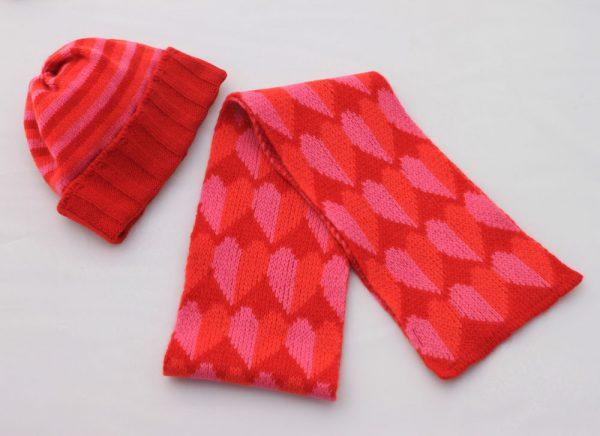 Heart Scart SCF9-3 Linda Wilson Childrens Knitwear Irish Designer Limerick
