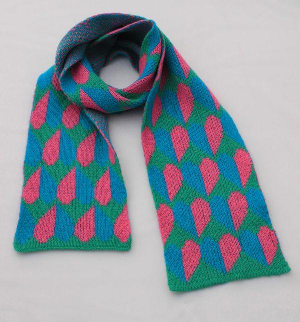 Heart Scarf SCF9-5 Linda Wilson Childrens Knitwear Irish Designer Limerick