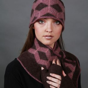 Patterned Hat HAT25 Linda Wilson Irish Knitwear Designer Limerick