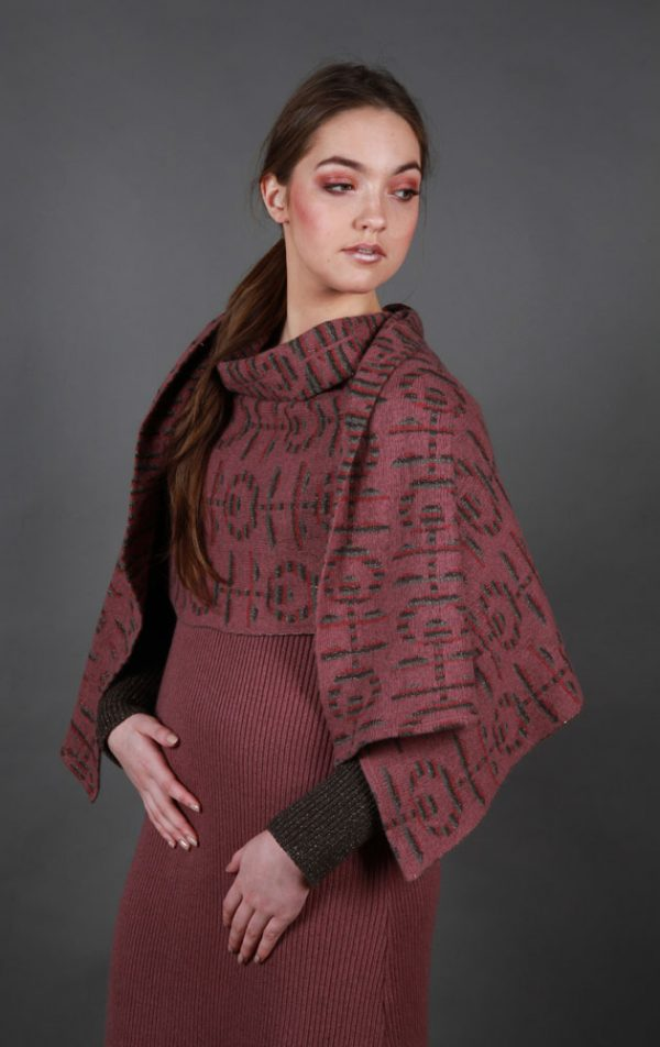 Retro Flower Patterned WRPSCF2c-4 Linda Wilson Irish Knitwear Designer Limerick