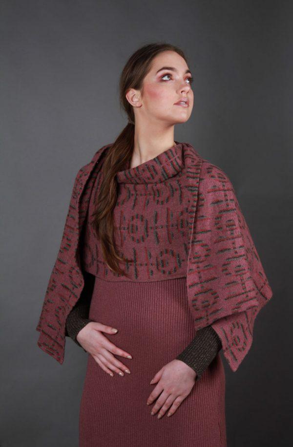 Retro Flower Patterned WRPSCF2c-5 Linda Wilson Irish Knitwear Designer Limerick