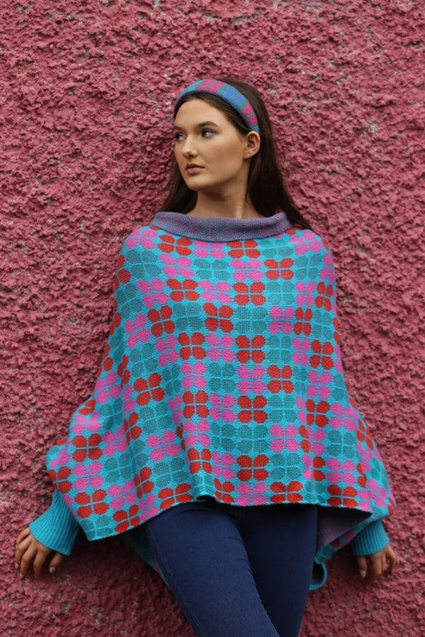 Retro Petal Draped Jumper 2 Linda Wilson Irish Knitwear Designer Limerick