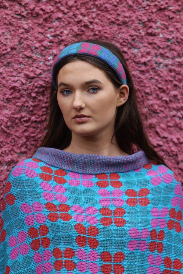 Retro Petal Draped Jumper 3 Linda Wilson Irish Knitwear Designer Limerick