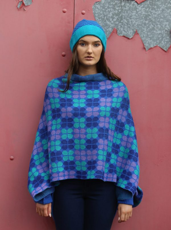 Retro Petal Draped Jumper 4 Linda Wilson Irish Knitwear Designer Limerick